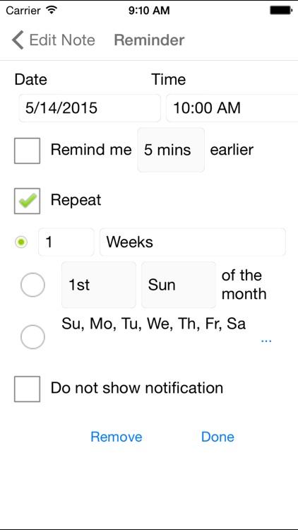 Notezilla - Notes & Reminders screenshot-4