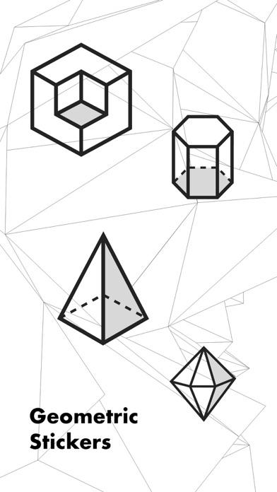 Geometric Stickers screenshot one