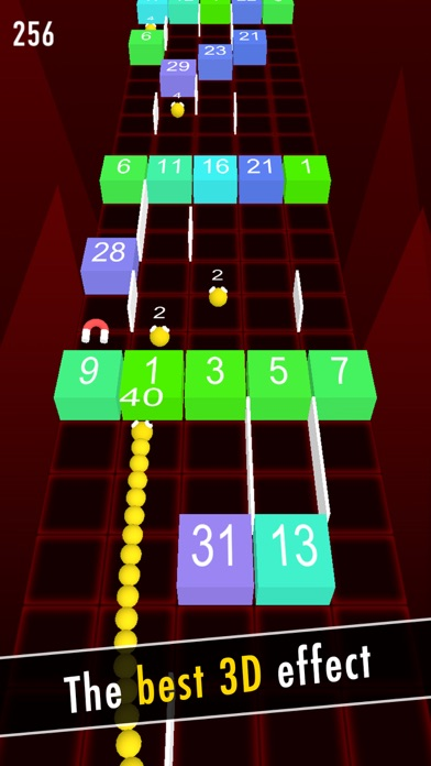 Balls Snake-Hit Up Number Cube screenshot one