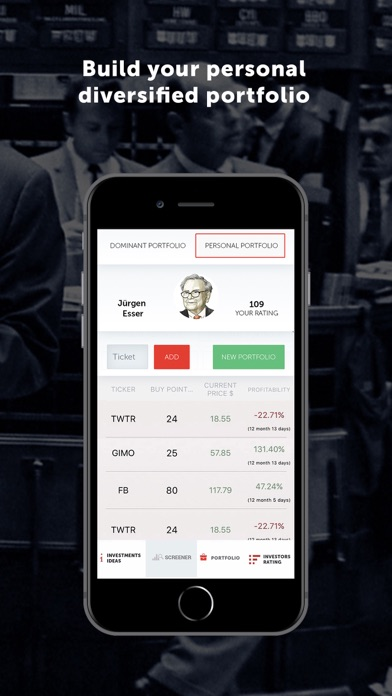 Screenshot of Dominant App