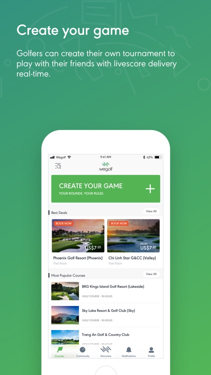 Wegolf - Live golf scoring