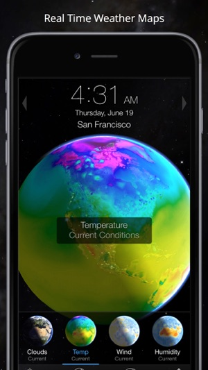 Live Earth Wind Map.Living Earth Clock Weather On The App Store