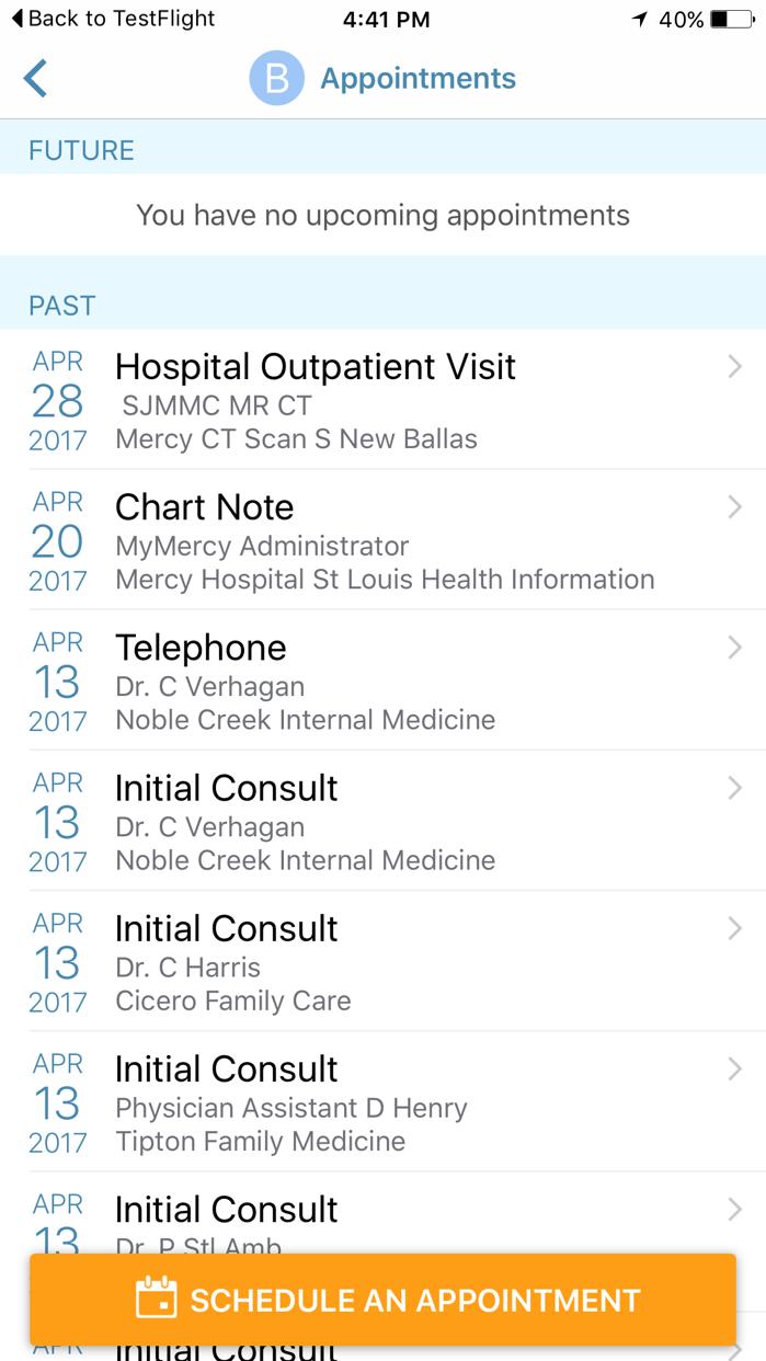 MyMercy Screenshot