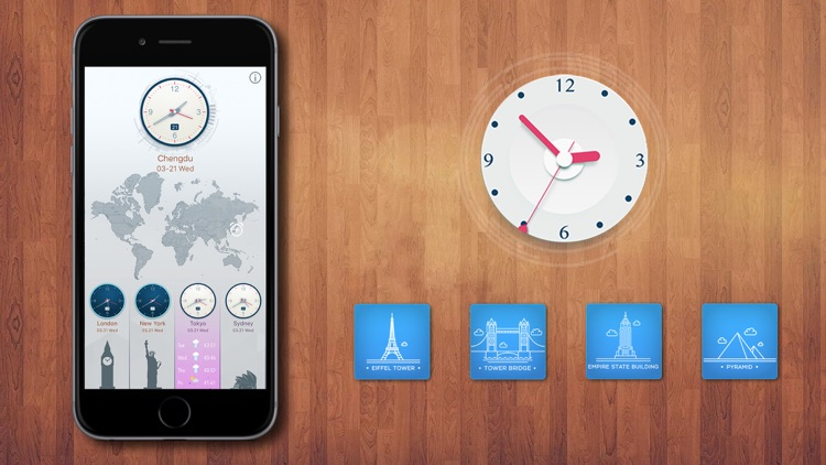World Clock for Time Zones by ThumbSoft
