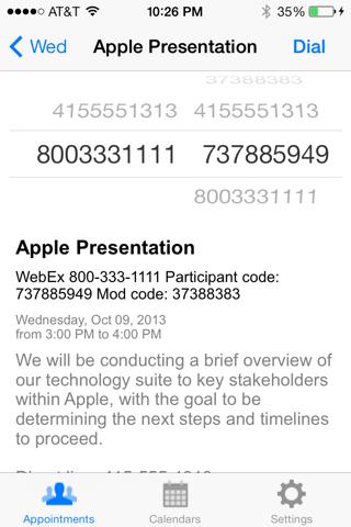 Screenshot of ApptDialer