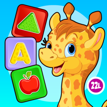 Shapes & colors bubble games for toddler kids Free