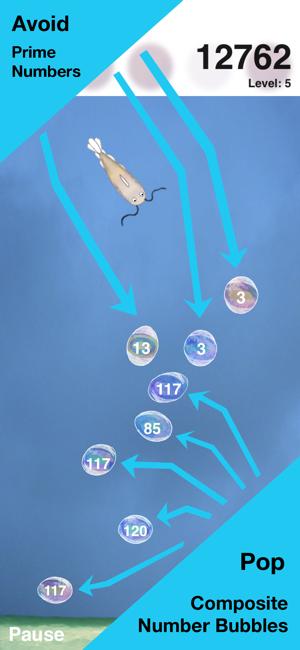 Bubbly Primes - Factoring Game Screenshot