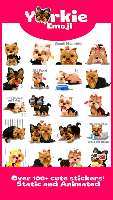 Yorkie Dog Emoji Stickers screenshot two