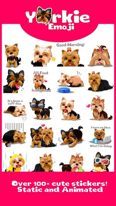 Yorkie Dog Emoji Stickers screenshot two