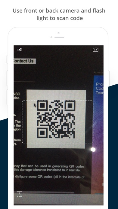 QR Code Reader & Scanner by CA Screenshot on iOS