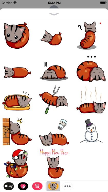 Sausage Cat Animated Stickers screenshot-3