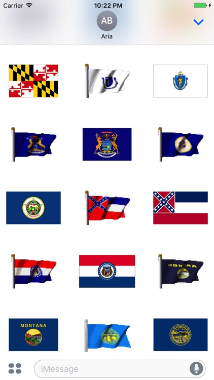 Animated Flags Of 50 US States screenshot-4