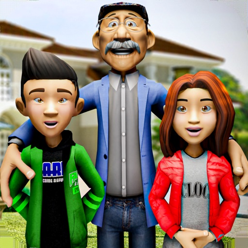Super Happy Grandpa Family Sim iOS App