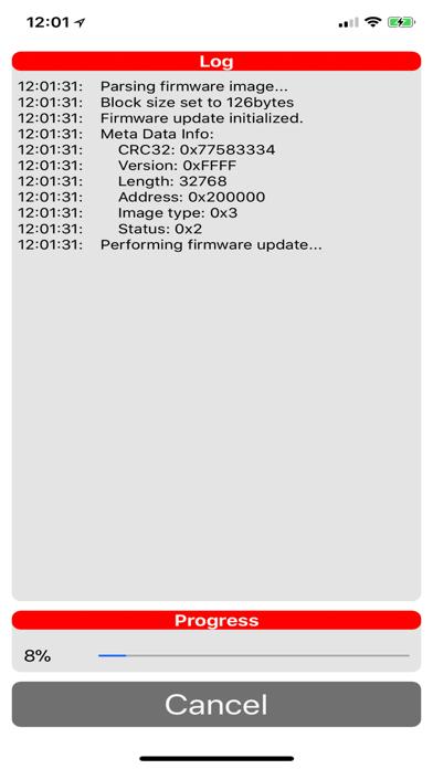 MSP432 BLE Firmware Updater Screenshot
