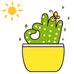 Cute Cacti Cactus Stickers