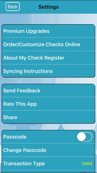 My Check Register review screenshots