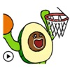 Avocado Love Sport Sticker
