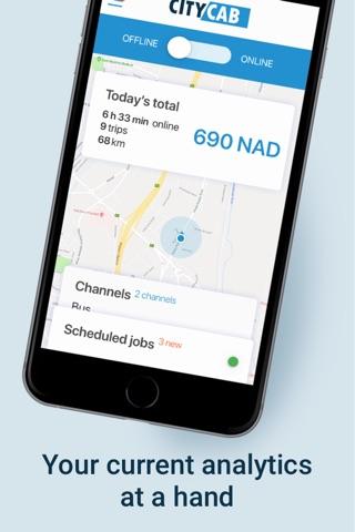 Скриншот из City Cabs Windhoek Driver