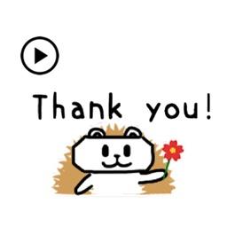 Animated Cute Hedgehog Sticker