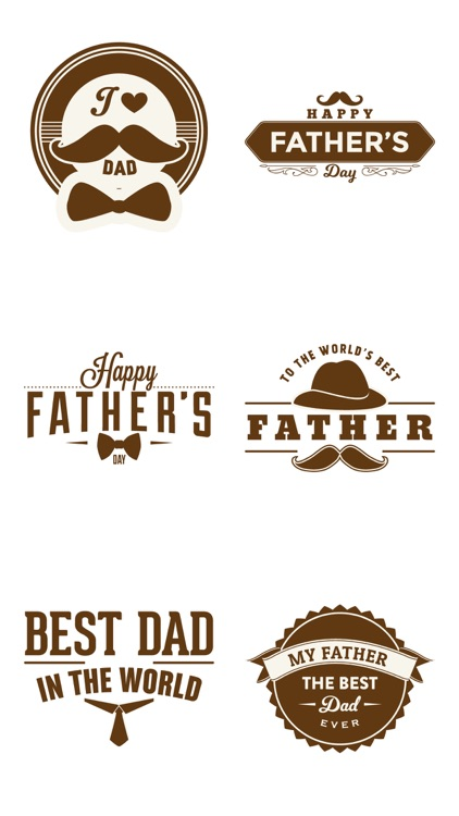 Father's Day Fun Stickers Pack