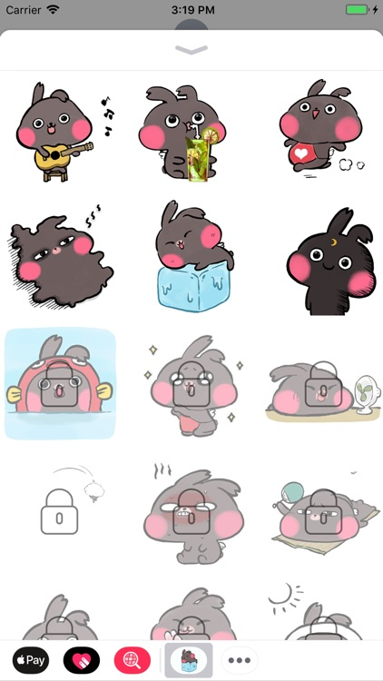 Summer Bunny Animated Stickers screenshot-4