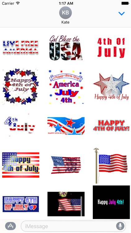 Animated Independence Day USA