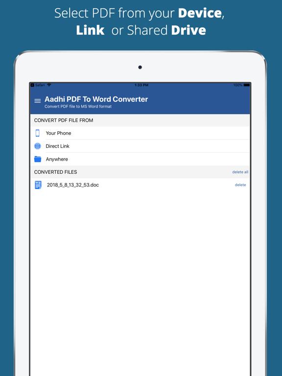 Aadhi PDF to Word Converter screenshot 6