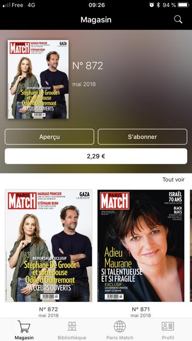 Paris Match Belgique screenshot two