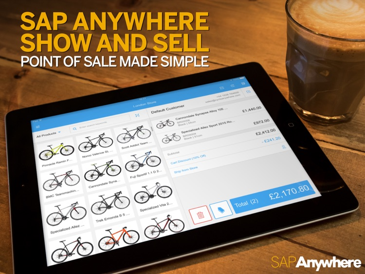 SAP Anywhere Show and Sell