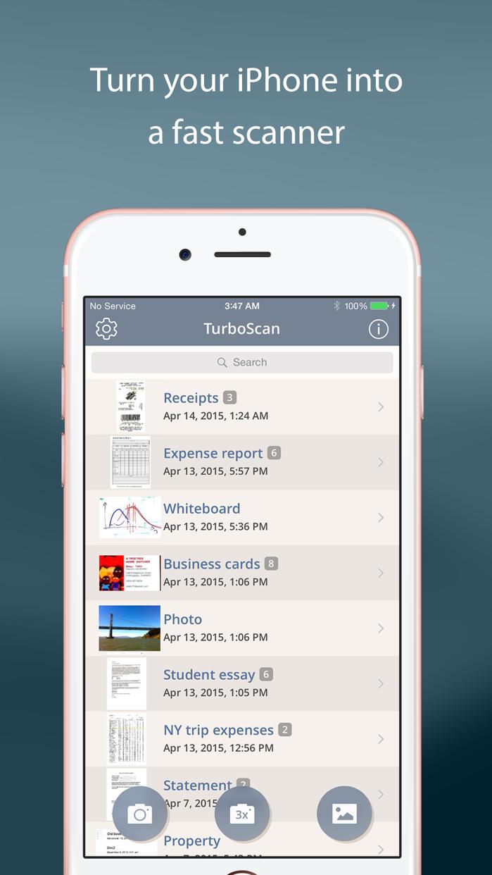 TurboScan™: document scanner Screenshot
