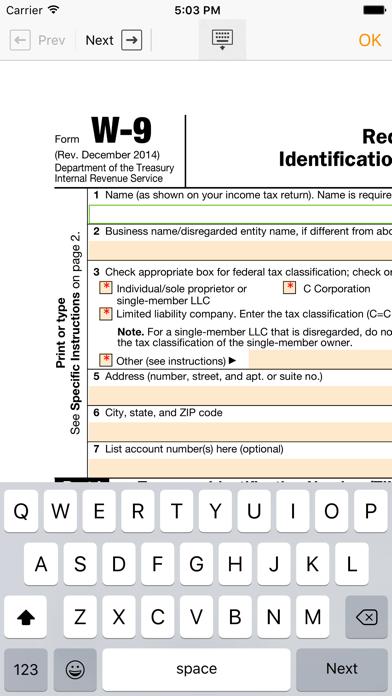 Form Filler screenshot three