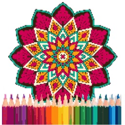 Mandala Pixel Art Coloring