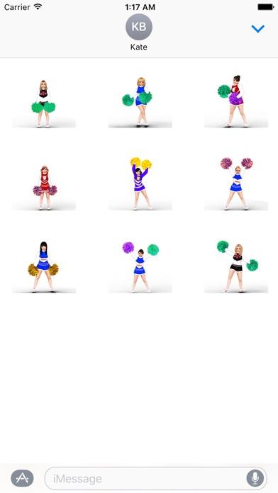 Animated Cheerleader Sticker screenshot 2