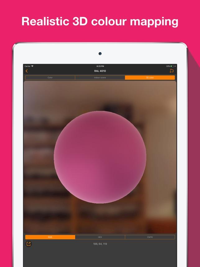 RAL colour chart. 3D fan deck Screenshot
