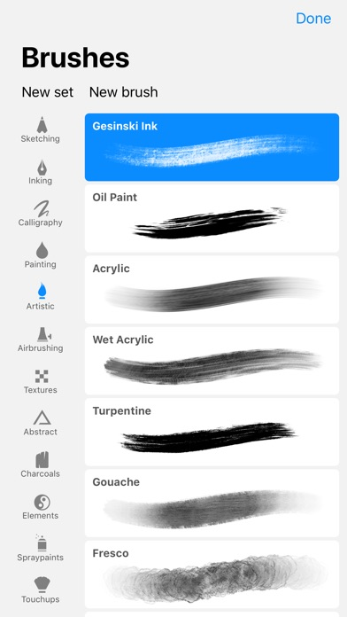 Screenshot of Procreate Pocket App