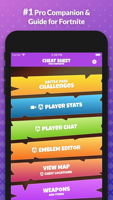 Screenshot for Cheat Sheet Guide for Fortnite in United States App Store