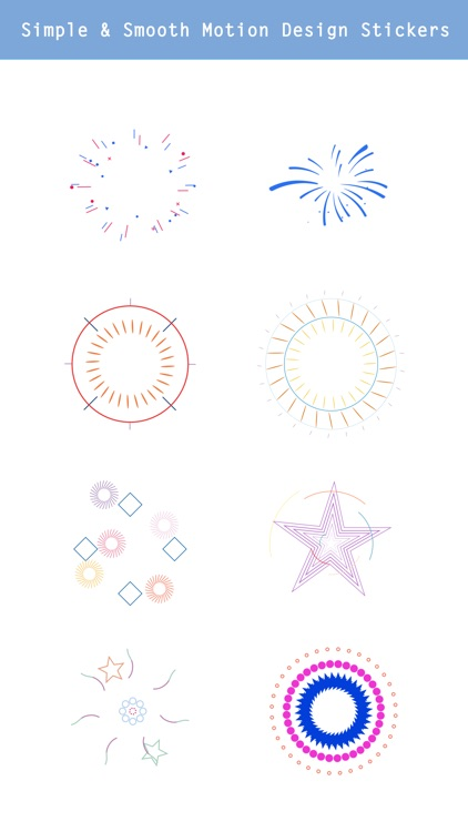 Animated Fireworks - Stickers