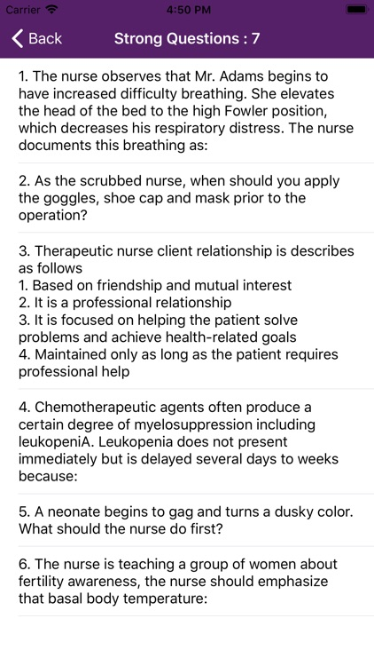 Fundamentals of Nursing Mock screenshot-8