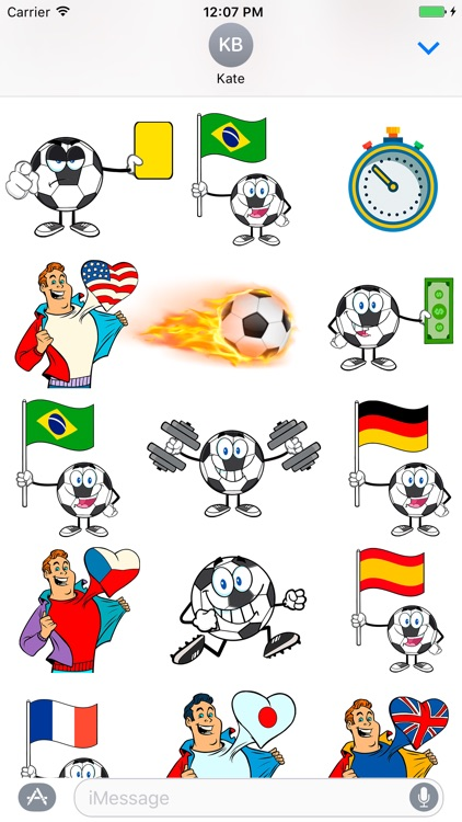 Soccer Football Emoji Stickers