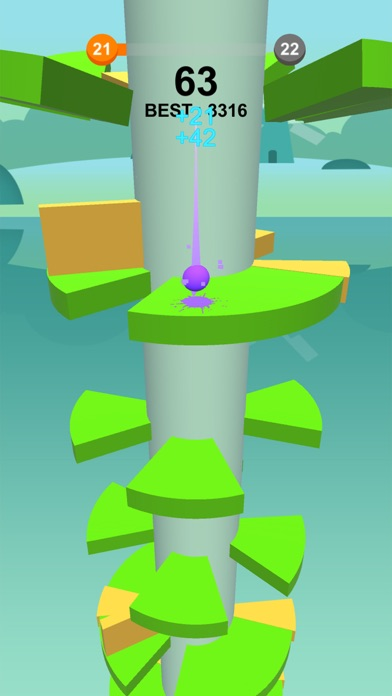 Jump Ball-Bounce On Tower Tile screenshot #2
