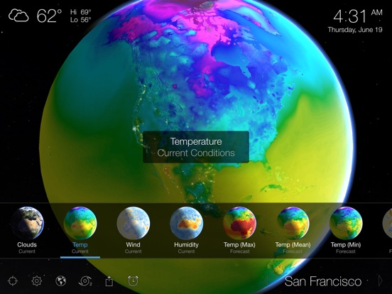 Living Earth - Clock & Weather Screenshots