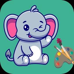 Animal Coloring Book Games App