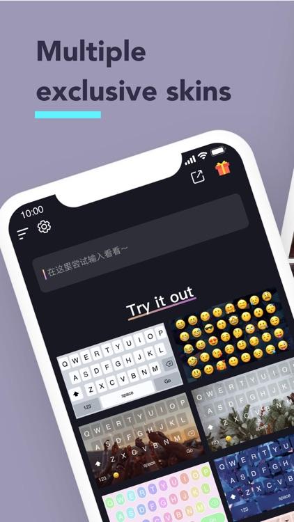 Fonts - Keyboardskins & emoji screenshot-0