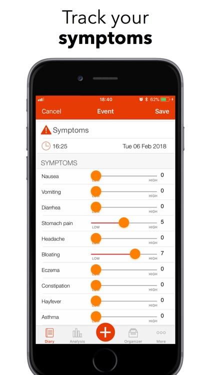 mySymptoms Food Diary screenshot-3