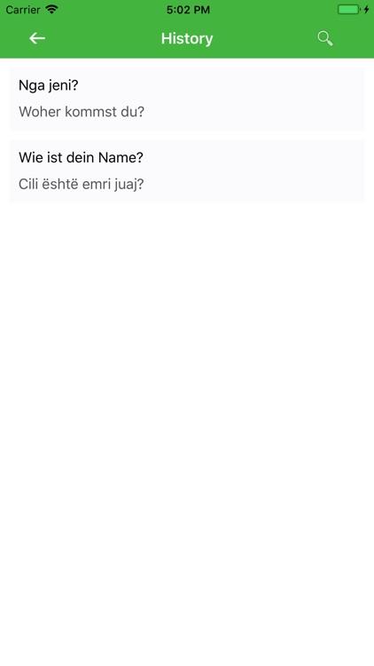 Albanian German Translator screenshot-3
