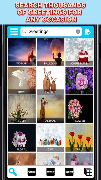 Create send and even print greeting cards for any occasion greeting cards app pro m4hsunfo