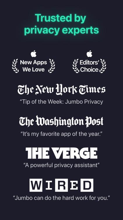 Jumbo: Privacy + Security screenshot-9