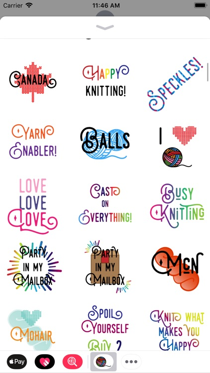 Knitting Stickers