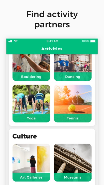Find activity partners online