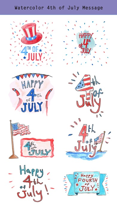 4th of July - Watercolor Pack screenshot 3